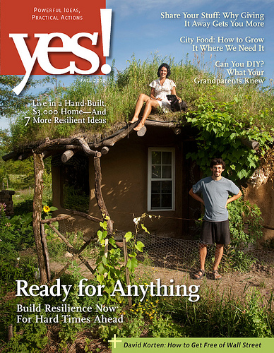 Cob House at Dancing Rabbit Ecovillage in Yes! Magazine