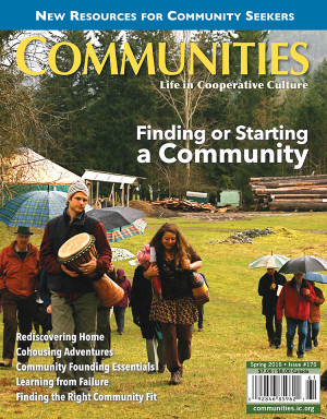 Finding or Starting a Community - Communities Magazine Cover - Spring #170