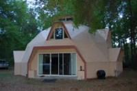 Geodesic dome house, 7.5 acres, seperate steel quonset garage, with concrete aprons, 30 x 60 barn